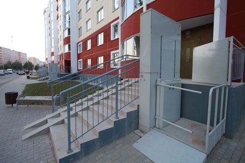 Mechanical lift for wheelchair users in Salihorsk
