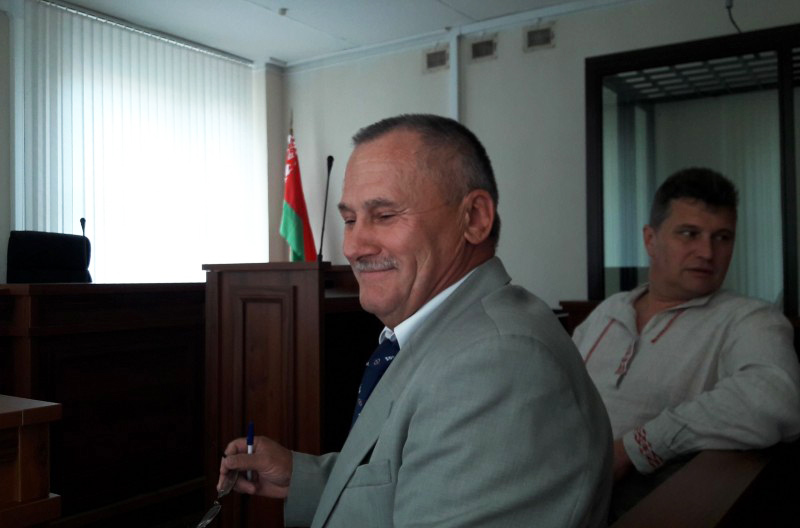 Мікалай Салянік у судзе. Фота: harodniaspring.org
