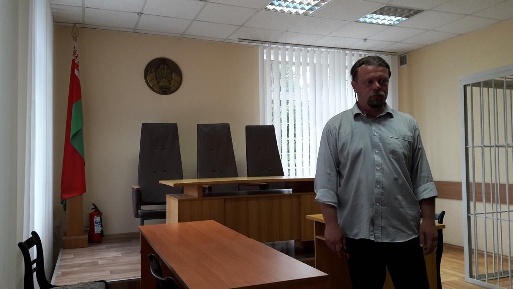 Вадзім Саранчукоў у судзе.