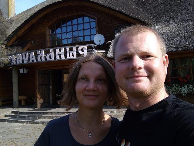 Паліна Шарэнда-Панасюк і Андрэй Шарэнда
