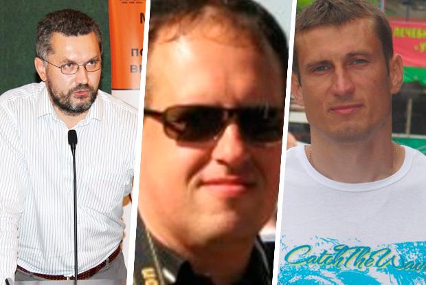 Сяргей Шыптэнка, Дзмітрый Алімкін і Юры Паўлавец. Калаж TUT.BY
