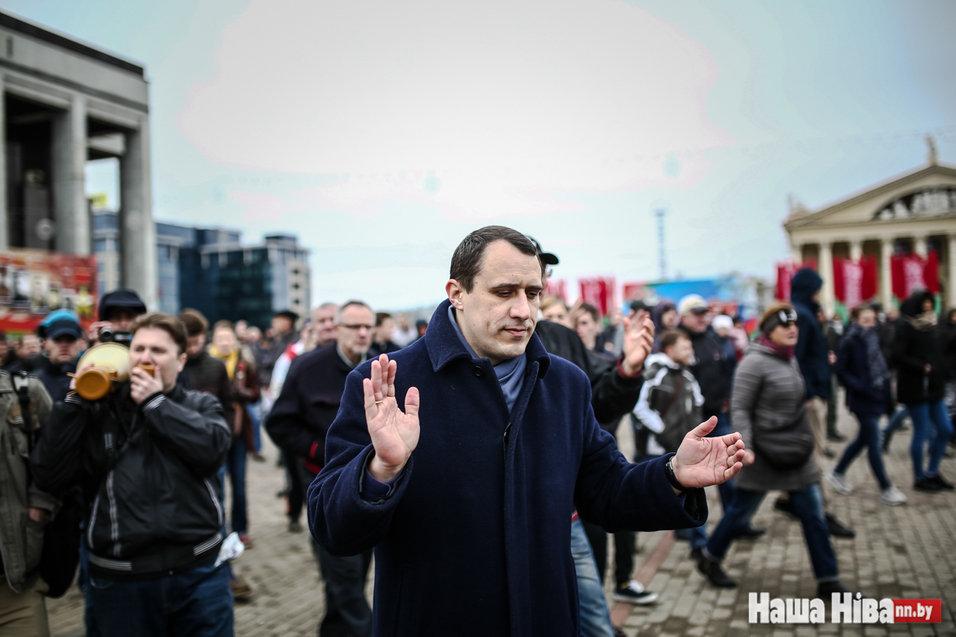 После уличной акции вМинске схвачен Павел Северинец