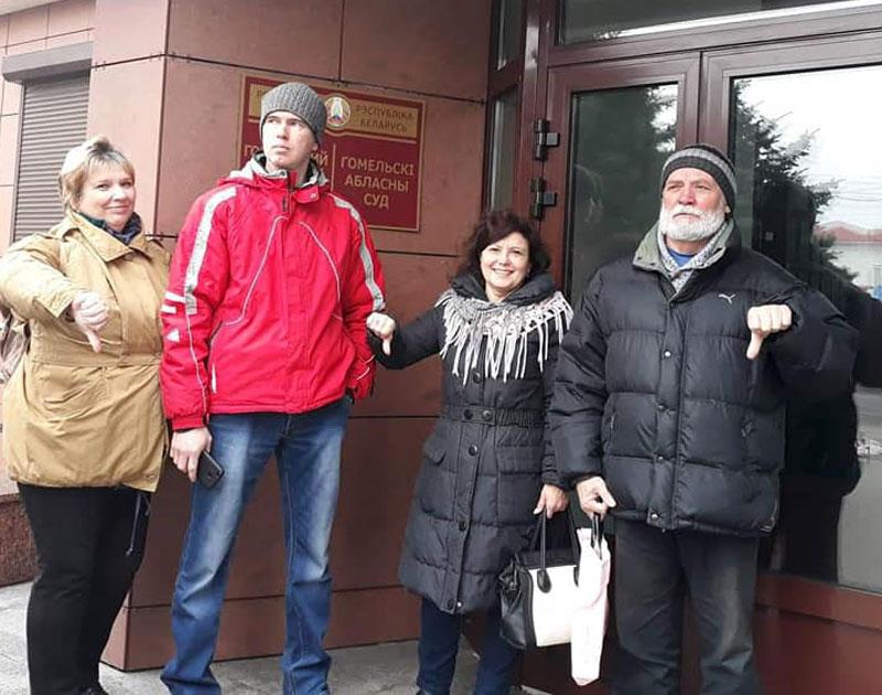 Экалагічныя актывісты са Светлагорску. Другі злева - Андрэй Смалянчук