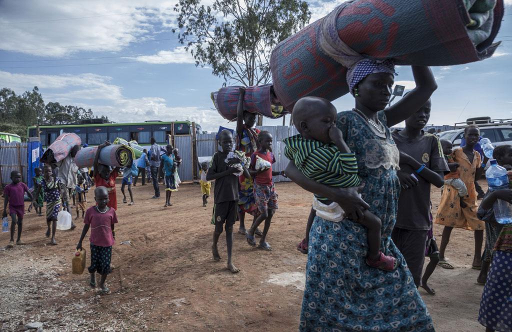 Бежанцы з Паўднёвага Судана. Фота УВКБ / Дзіна Дыяз