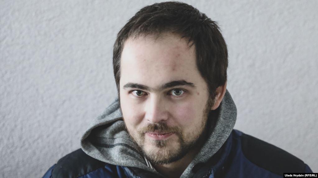 Сяргей Спарыш. Фота Уладзіміра Грыдзіна (RFE/RL)