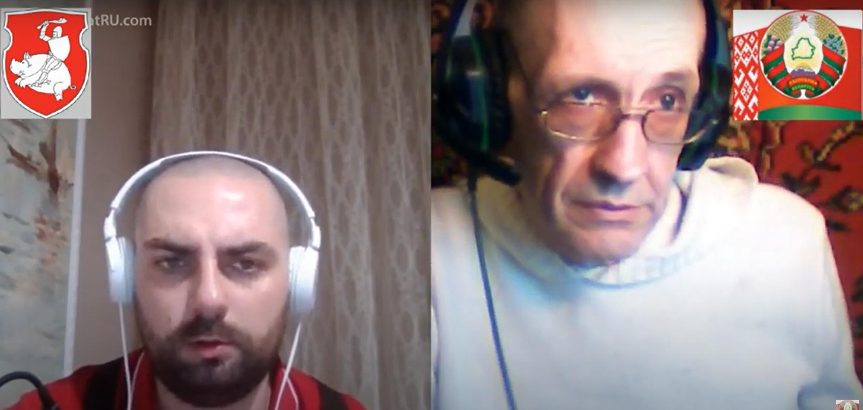 """Скрын размовы, выкладзены на канале """"Дзед Барадзед"""""""