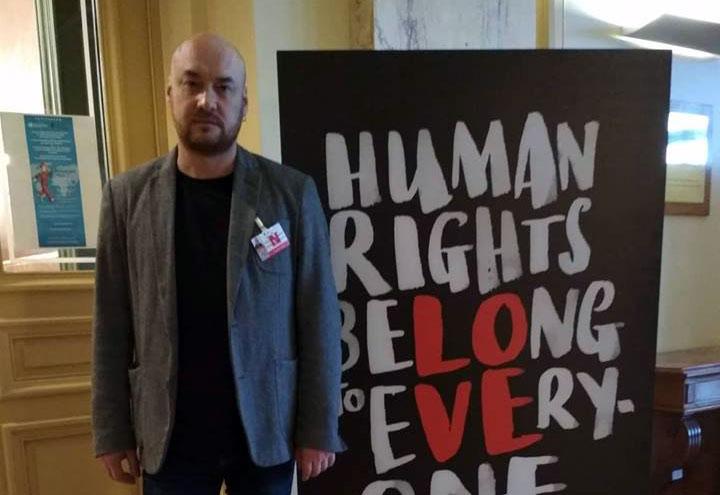 Валянцін Стэфановіч на 124-й сесіі Камітэта ААН па правах чалавека