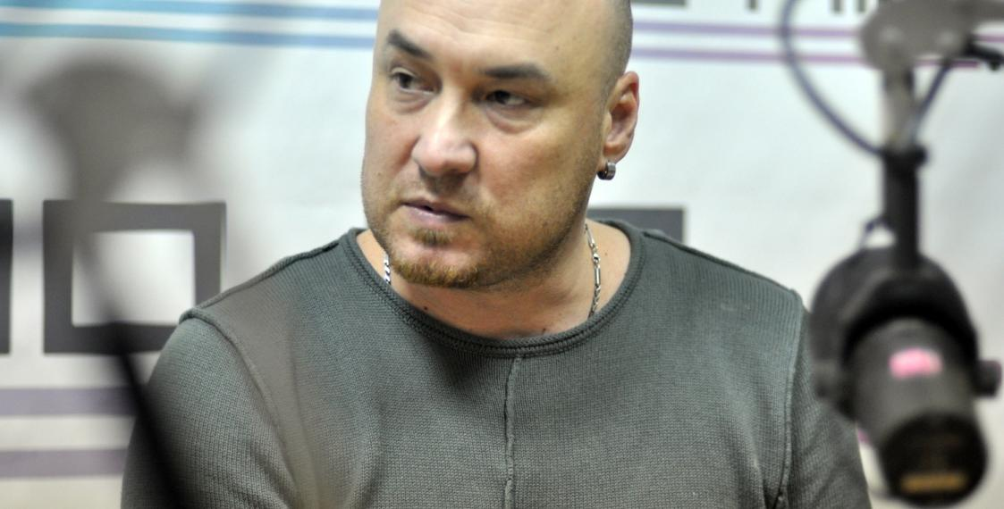 Валянцін Стэфановіч у студыі Еўрарадыё