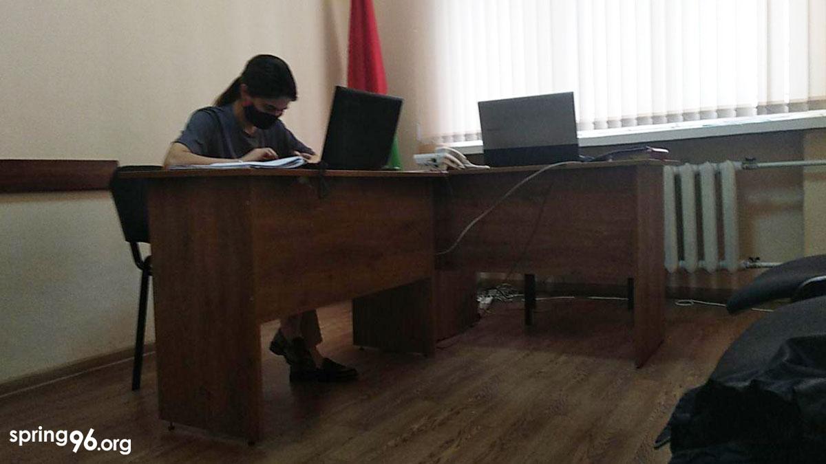 Судовае пасяджэнне ў судзе Савецкага раёна г. Мінска