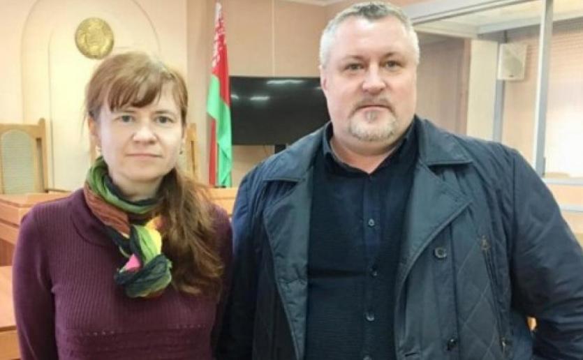 Maryia Tarasenka and Leanid Sudalenka