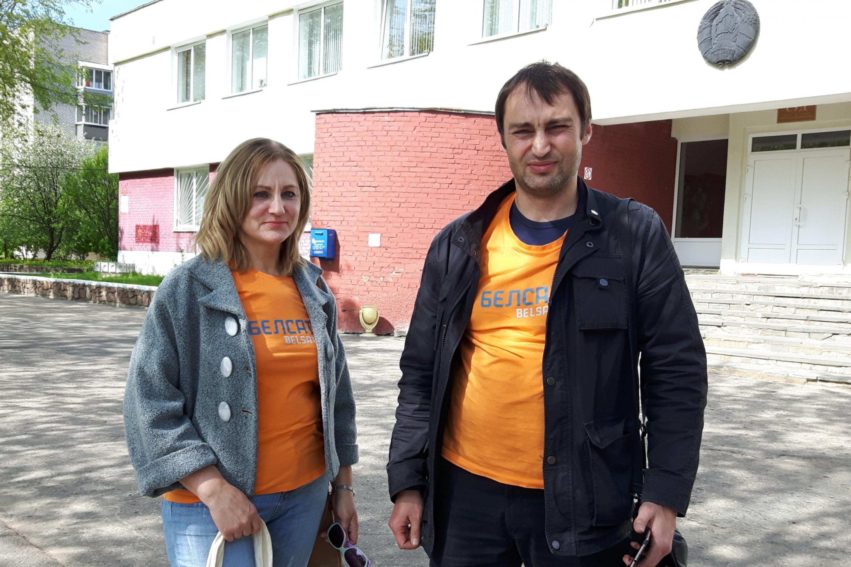 Алена Шабуня і Вячаслаў Лазараў. Фота з сайту racyja.com