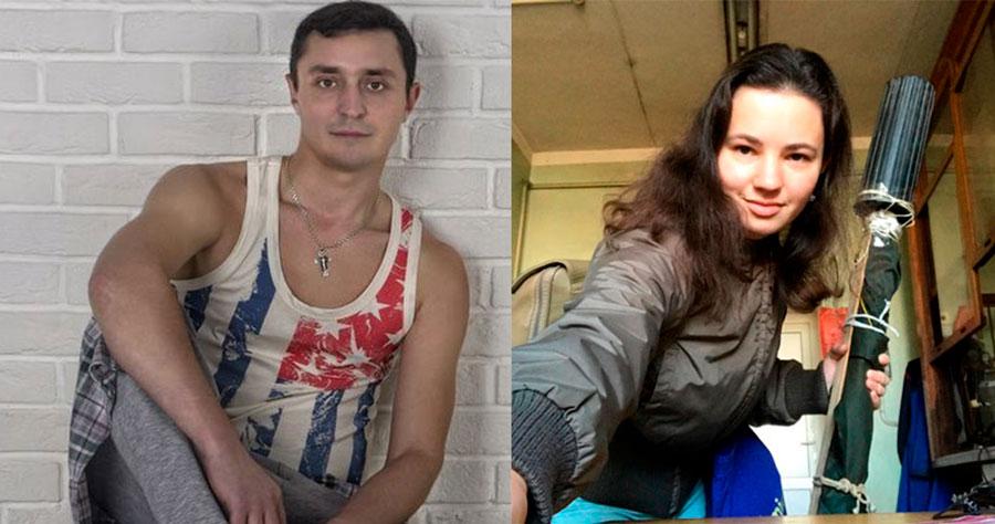 Дзмітрый Таратун і Дзіяна Казак. Фотакалаж з сацыяльных сетак