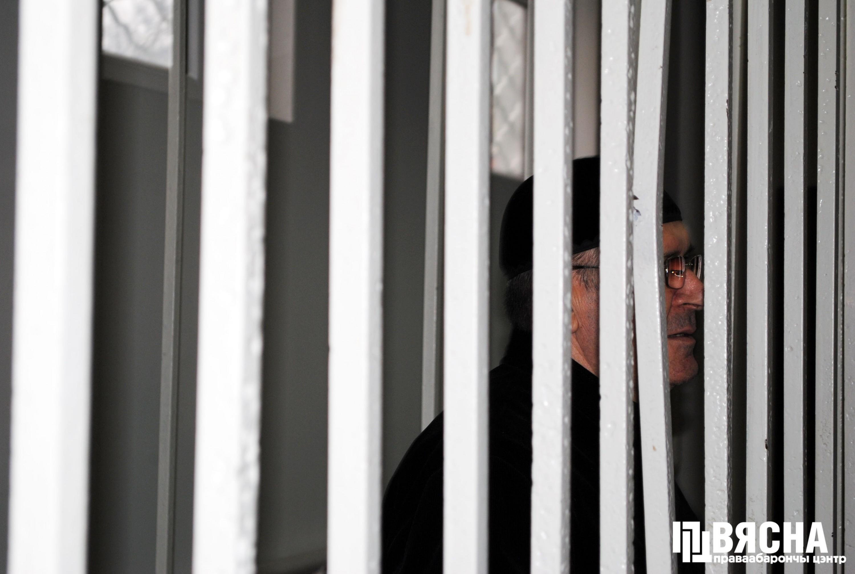 "Аюб Ціціеў на судзе 20 лістапада 2018 года. Фота: ПЦ ""Вясна""."