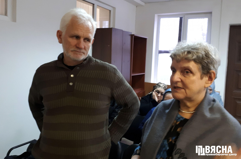 """Старшыня праваабарончага цэнтра """"Вясна"""" Алесь Бяляцкі і праваабаронца Святлана Ганушкіна."""