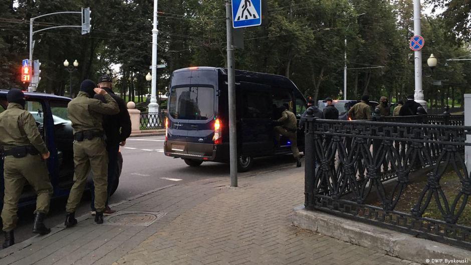 Затрыманні ў Мінску 8 верасня 2020 года. Фота: DW