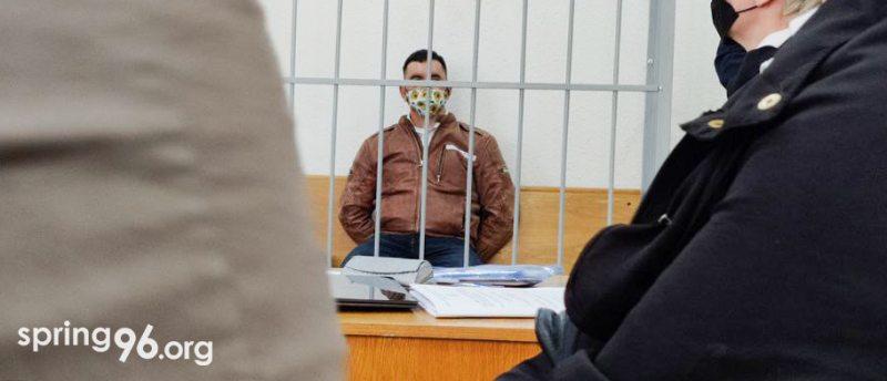 Cцяпан Латыпаў у судзе 1 чэрвеня. Фота: spring96.org