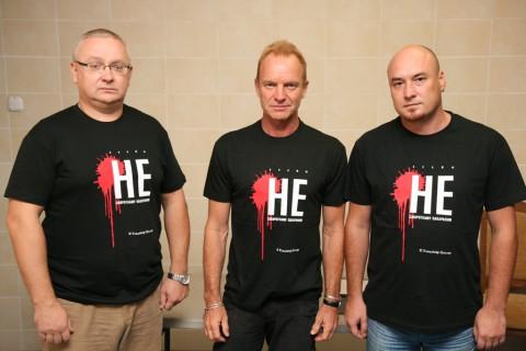 Алег Гулак, Sting, Валянцін Стэфановіч - супраць сьмяротнага пакараньня