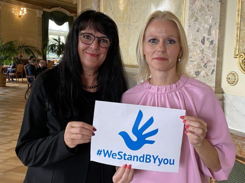 Swiss National Councillors Marianne Streiff-Feller and Lilian Studer