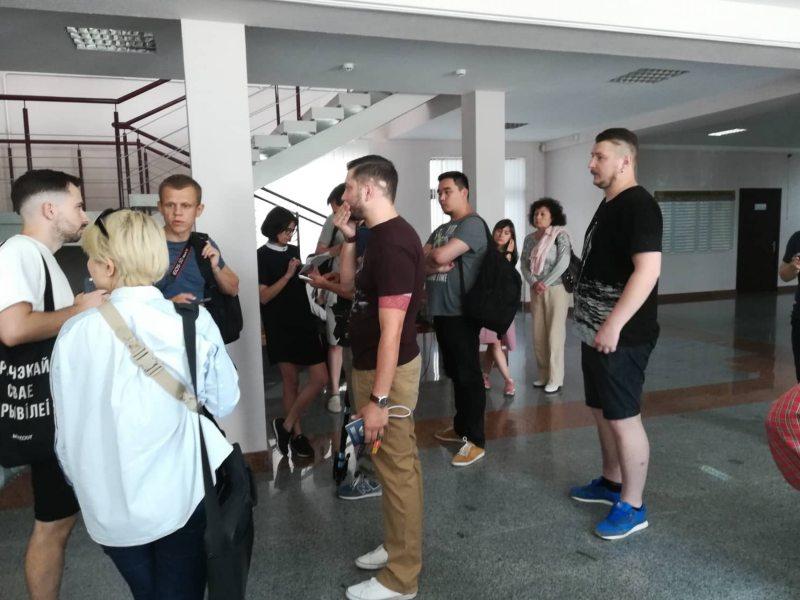 У судзе Маскоўскага раёна Мінска 29 чэрвеня. Фота: ПЦ