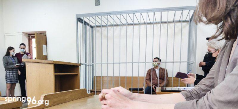 Степан Латыпов в суде 1 июня. Фото: spring96.org