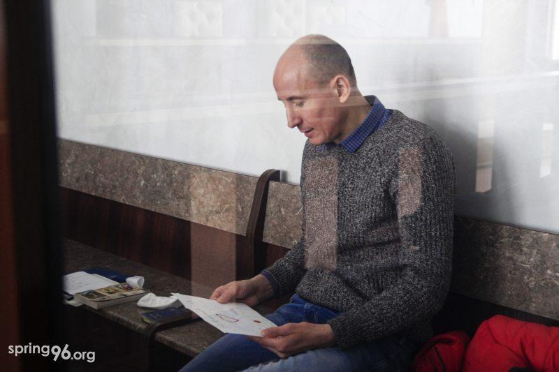 Палітвязень Уладзімір Няронскі ў судзе 13 студзеня. Фота: spring96.org