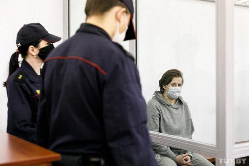Мария Бобович в суде. Фото: TUT.BY