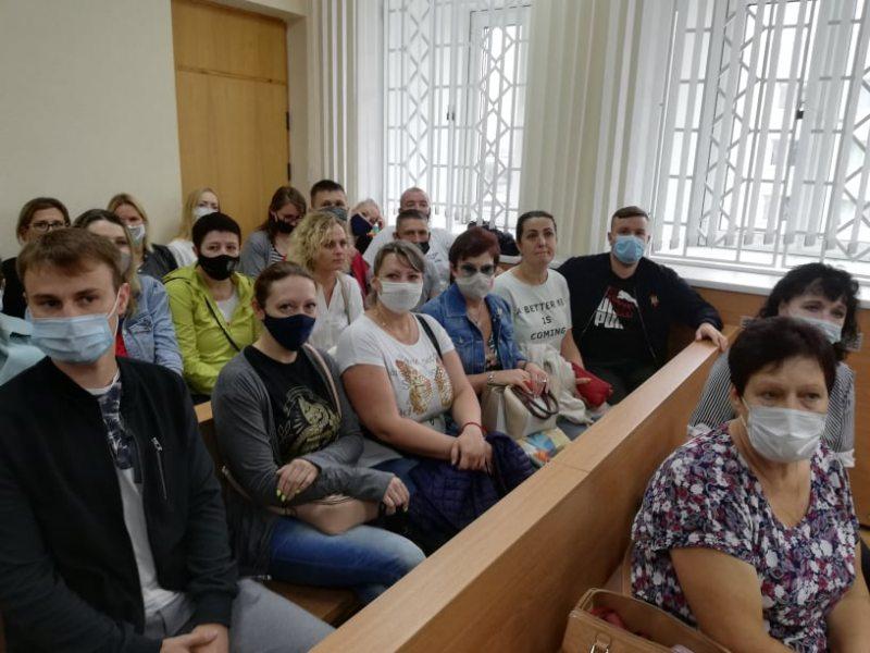 У зале суда 2 жніўня на працэсе Андрэя Сакалоўскага