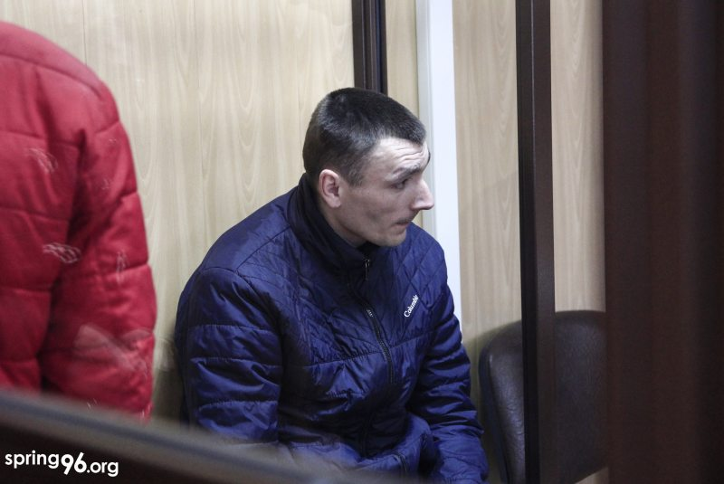 29-летний Виктор Скрундик в суде. Фото: spring96.org