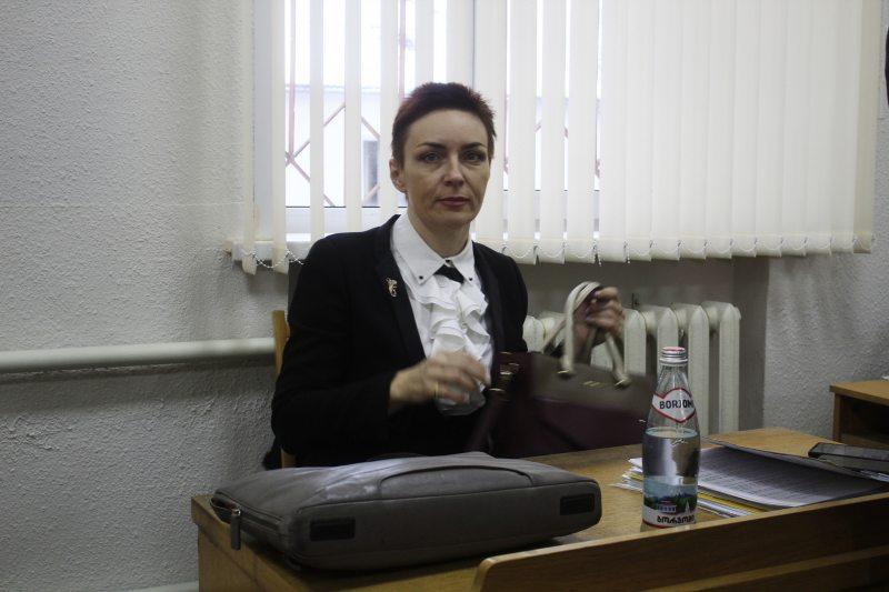 Адвакатка Леаніда ЗайдэсаЯўгенія Патапава. Фота ПЦ