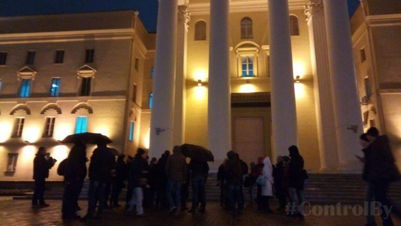 Акция, посвященная памяти расстрелянных деятелей культуры и науки 29 октября.