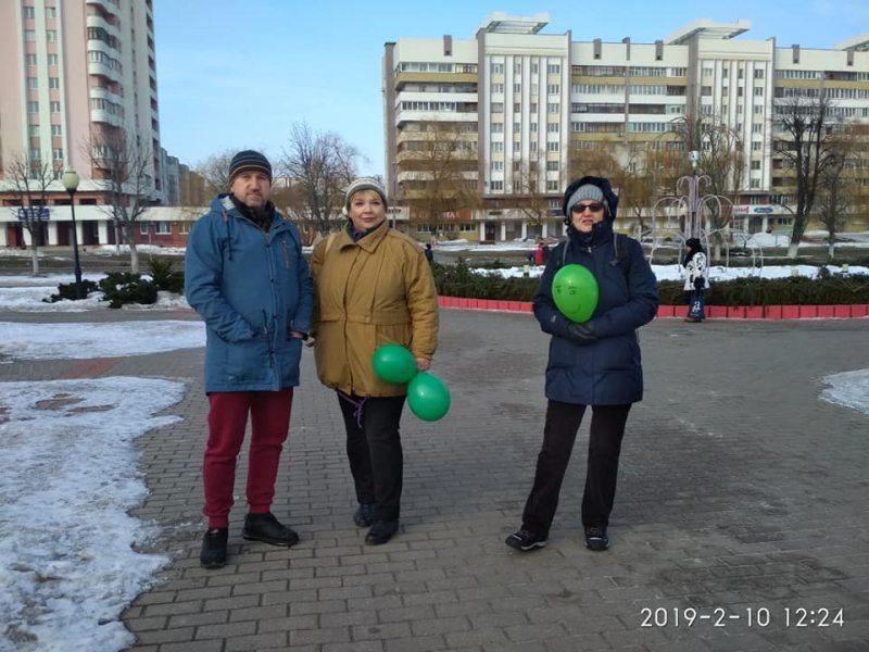 Акцыя супраць будаўніцтва завода беленай цэлюлозы ў Светлагорску. Фота Алены Маслюковай.
