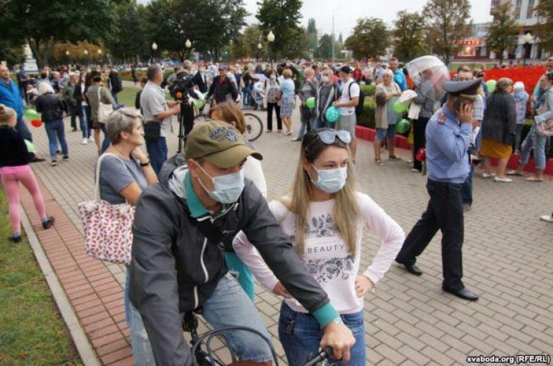Флешмоб в Светлогорске 15 сентября. Фото: Радио Свобода.