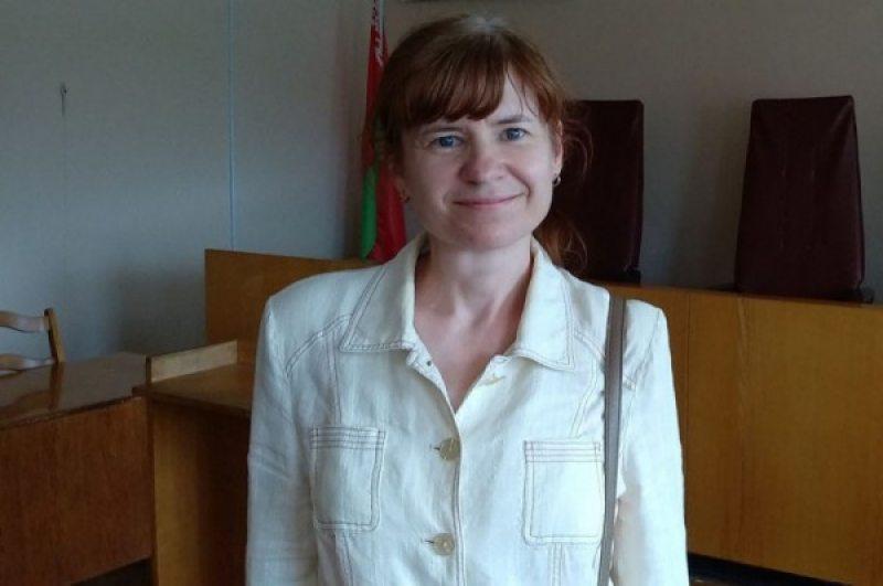 Мария Тарасенко в суде Добрушского района. Фото: Игорь Тарасенко