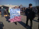 Актывістка АГП правяла ў Акцябрскім пікет супраць фальсіфікацый на выбарах (фота)