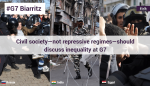 FIDH: Civil society - not repressive regimes - should discuss inequality at G7