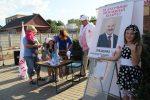 У Брэсцкім раёне падчас пікетаў за вылучэнне Аляксандра Лукашэнкі адмыслова ладзяць канцэрты творчых калектываў