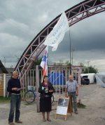 Агитационный пикет Татьяны Шамбаловой в Хотимске.