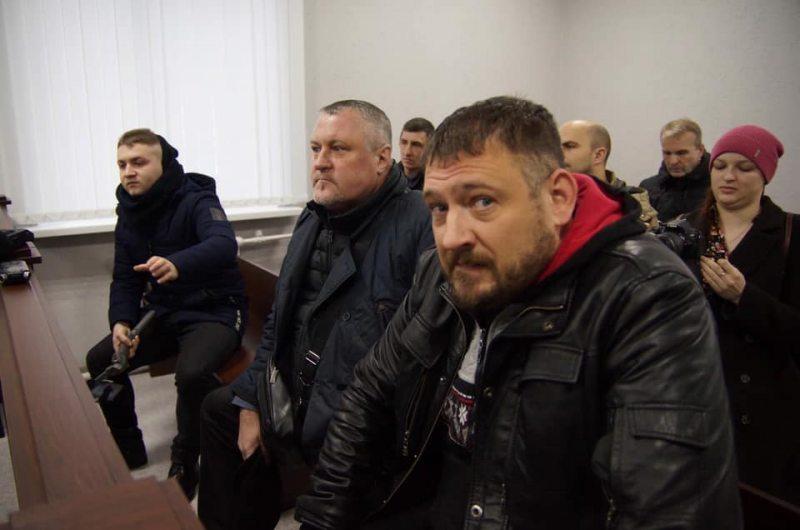 Праваабаронца Леанід Судаленка і блогер Сяргей Ціханоўскі на судзе