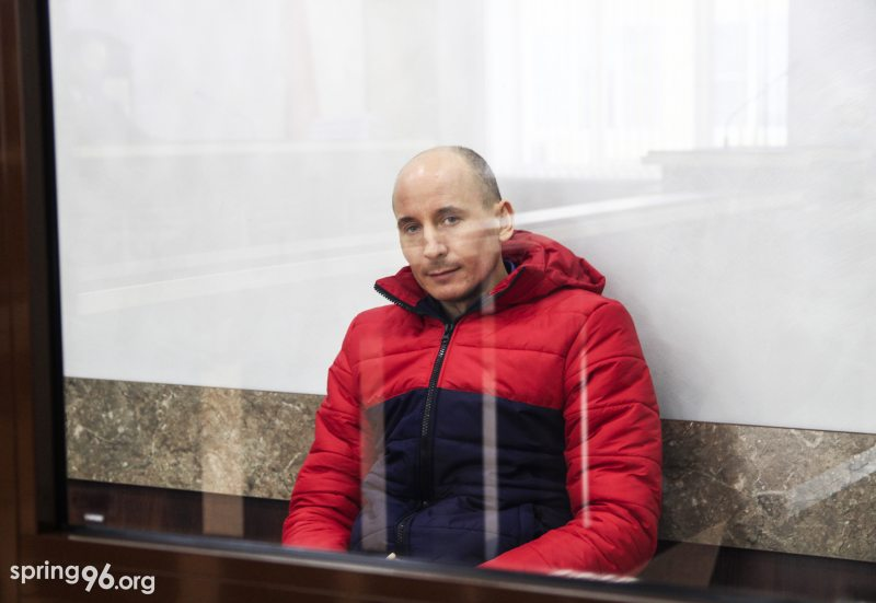 Политзаключенный Владимир Неронский в суде 13 января. Фото: spring96.org