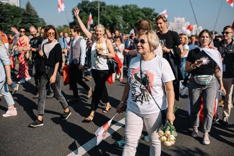 Лилия Власова на мирной акций 30 августа. Фото: pkritchko