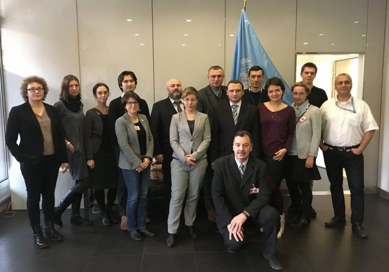 Representatives of Belarusian civil society during a meeting with UN officials in Geneva. Photo: Human Constanta
