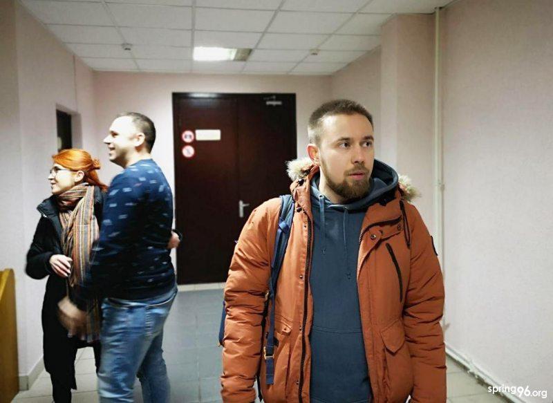 Міхась Варанцоў на судзе 8 студзеня