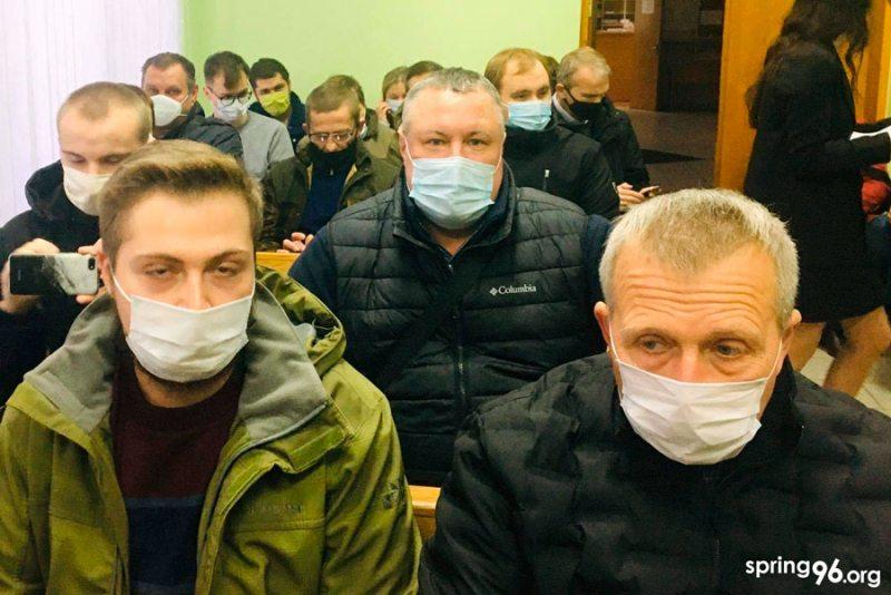 Пад час суду над Георгіем Васіленка