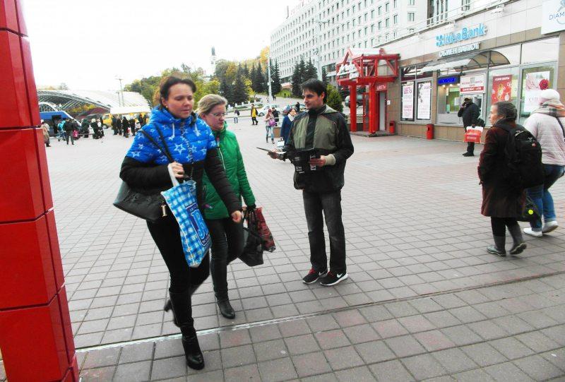 Інфармацыйная акцыя супраць смяротнага пакарання ў Віцебску 10 кастрычніка 2017 года.