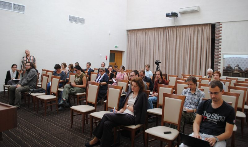 Press conference of the campaign Human Rights Defenders for Free Elections. Minsk, September 12, 2016.