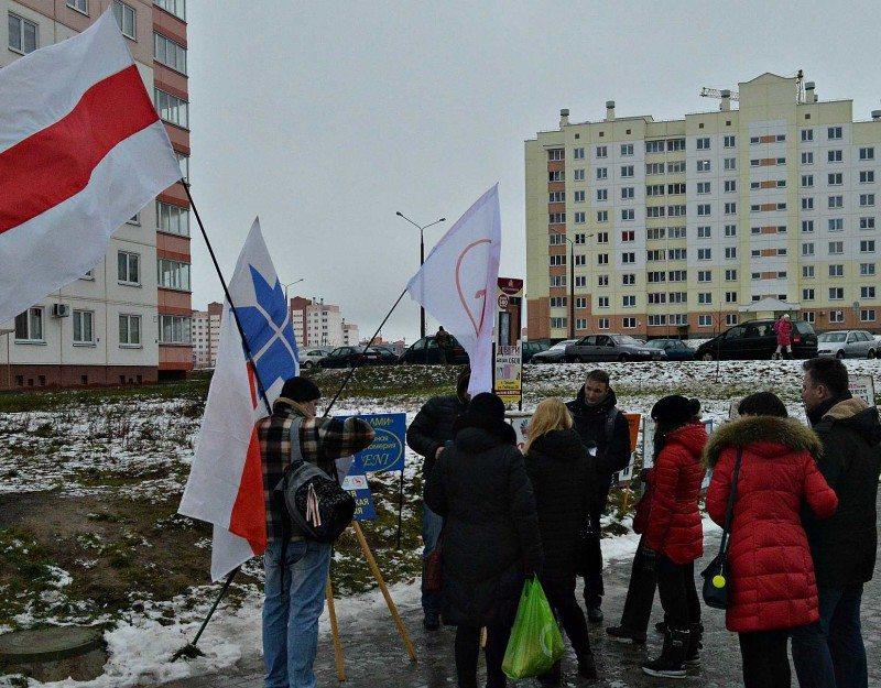 Первый предвыборный пикет в Гродно.