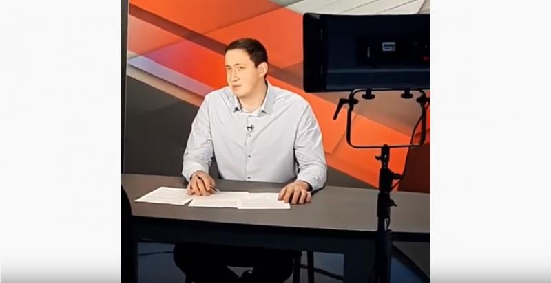 Принскрин видеовыступления Андрея Мамякова