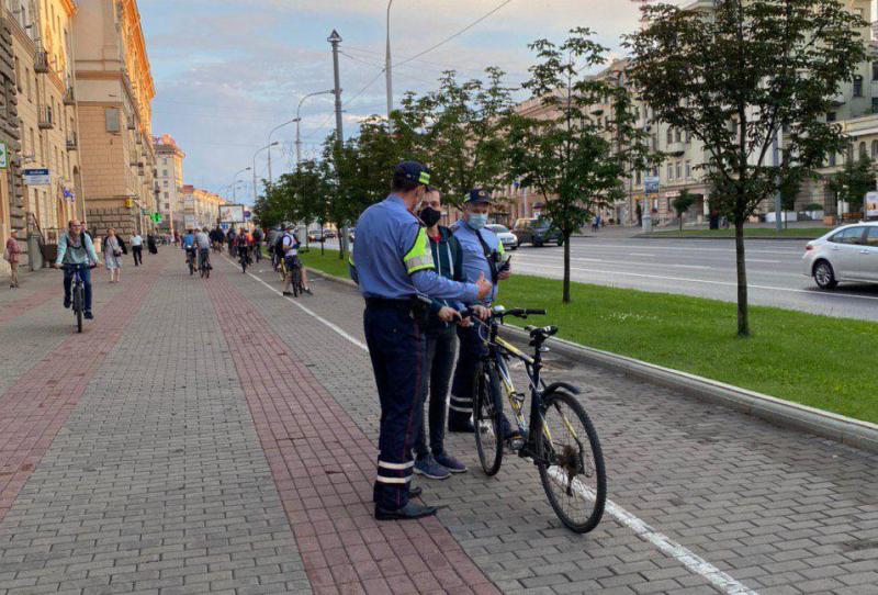Затрыманне раварыстаў у Мінску. Фота з тэлеграм-каналу