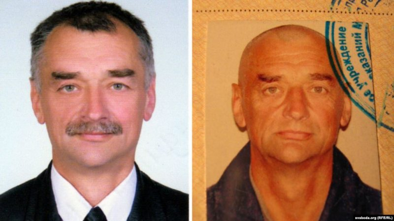 Political prisoner Mikhail Zhamchuzhny before (left) and after 4 years in prison. Photo: svaboda.org
