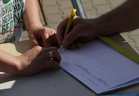 Нарушения при сборе подписей за Лукашенко в Жодино